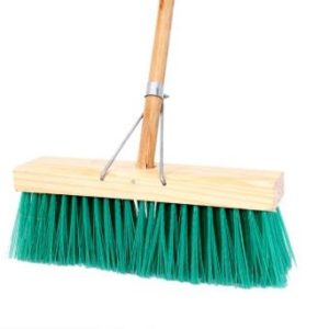 budget broom soft bristle , 4 rows
